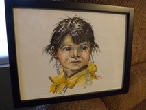 Indian girl painting in Alamogordo, New Mexico