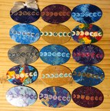 Moon Phase, Beach, Galaxy Drumstick Ornaments in Camp Pendleton, California