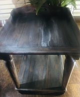 Solid wood weathered finish side table in Chicago, Illinois