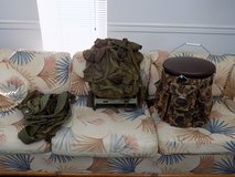 USMC Mil Spec Backpack with Frame, (6) Web Gear Y-Type Suspenders, 5 Gal Tackle Wrap in Sanford, North Carolina
