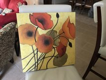 2 canvas flower prints in Kingwood, Texas