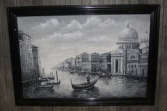 "30""x40"" Oil on Canvas, ""My Gondola in Venice"" Framed! in Sugar Land, Texas"