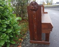 antique solid oak church pew in Stuttgart, GE
