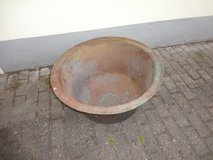 Planter, copper kettle, wash tank, plant trough green pot in Ramstein, Germany