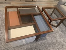 Coffee table and end table set WITH 4 pull out storage benches in Batavia, Illinois