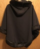 CHOCOLATE BROWN HOODED CAPE WITH FAUX FUR TRIM & MATCHING GLOVES in Lakenheath, UK