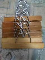 6 Wooden hangers,slack's or dress's in Alamogordo, New Mexico