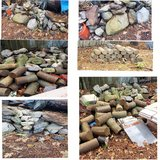 natural landscaping rocks and concrete  cylinders in Leesville, Louisiana