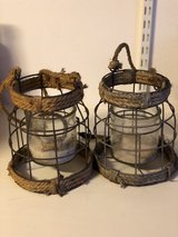 """Outdoor Wire Mesh Hanging Candles 7 x 6"""" in Ramstein, Germany"""