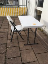 Lifetime Table and 4 Chairs + Extra Tables for $50 Each in Stuttgart, GE