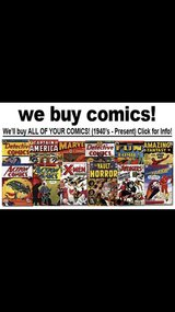 I buy comic collections and comic magazines in Tinley Park, Illinois