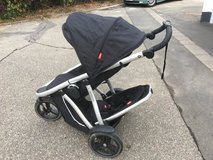 Phil and Teds Double Seater Stroller with Bassinet in Wiesbaden, GE