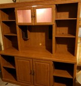 Hutch with lit cabinet. In Great shape in Joliet, Illinois