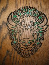 11x13 Bison Head cut out in Fort Riley, Kansas