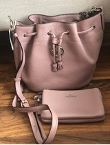 blush pink coach purse and wallet in Travis AFB, California