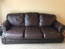 Brown Leather Sofa in Fort Hood, Texas