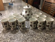 Christmas Holly Design Teapot and 12 cups in West Orange, New Jersey