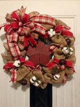 Primitive wreath in Fort Leonard Wood, Missouri
