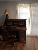 Solid Oak Desk and Chair in Travis AFB, California