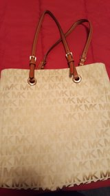 Cloth Brown/Tan Michael Kors Purse in Naperville, Illinois