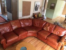 Sectional leather sofa in Brookfield, Wisconsin