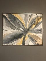 Grey and yellow art 42 H x51.5W in Naperville, Illinois