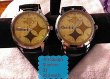 2 Pittsburgh Steelers watches in Fort Benning, Georgia