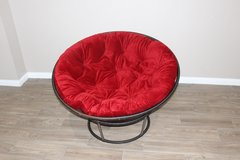 Red papasan Chair in Spring, Texas