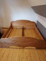Solid Wood Bed Frame in Ramstein, Germany