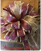 Christmas Tree Topper Bow in Joliet, Illinois