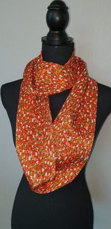 Kimono scarf orange geometric in Okinawa, Japan