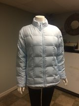 Women Gap Winter Puffer Down Jacket - size Small - Light Blue Color in Lockport, Illinois