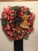 Ginger bread evergreen Christmas wreath in Fort Leonard Wood, Missouri