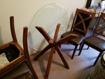 Glass kitchen table with 4 chairs in Fort Knox, Kentucky