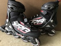 2 Pair Youth size adjustable rollerblades, sizes 2 - 5 & 5 - 8 in Fort Belvoir, Virginia
