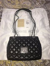 Michael Kors Black Shoulder Flap Leather in Fort Riley, Kansas