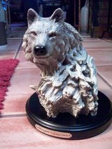 Wellington Collection Wolf Head on Wooden Base in Alamogordo, New Mexico
