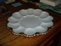 milk glass egg plate in Cherry Point, North Carolina