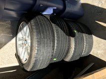 4 BMW rims and tires for E90 3 series in Camp Pendleton, California