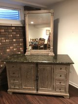"60"" vanity w/ granite top & mirror in Aurora, Illinois"