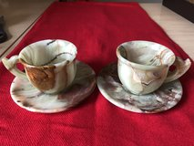 Two Onyx tea cups with two saucers (4 pieces) in Naperville, Illinois
