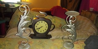 Coffee clock an candle holders in Beaufort, South Carolina