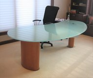 DANIA Desk with Tempered Glass Top - 2 Drawers in Naperville, Illinois
