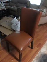4 real leather dining chairs in Conroe, Texas