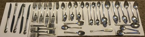 1947 Rogers Bros. Silverware dining set of 47 in Lawton, Oklahoma