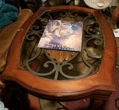 glass top wood coffee table in Lawton, Oklahoma