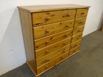 Pine chest of drawers, 12 drawer in Lakenheath, UK