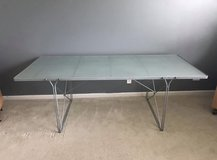 "IKEA Table - Dining or Desk Silver/Glass 79""L in Joliet, Illinois"