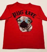 """Little Boy's """"Pug Life"""" Gently Used Graphic T-Shirt Size 6/7 in Kingwood, Texas"""