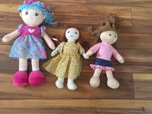 Lot of 3 plush/ fabric dolls $5 for all in Morris, Illinois